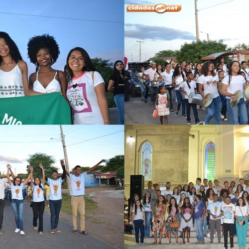 Pastoral da Juventude realiza 1ª Caminhada da Solidariedade e da Paz em Simões