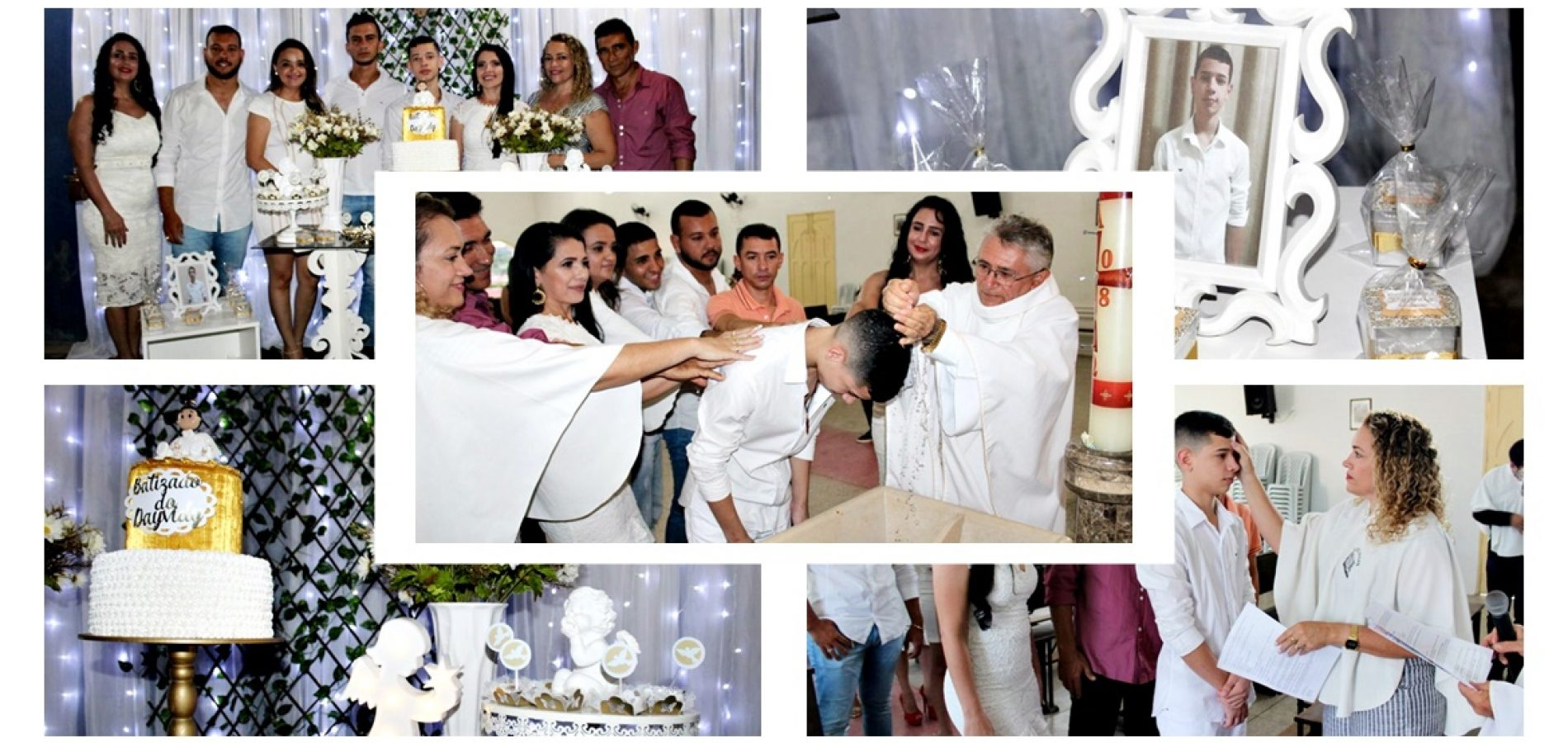 GENTE EM EVIDÊNCIA│Jovem Deyvidy Alan recebe as bênçãos do Batismo em Alagoinha do Piauí
