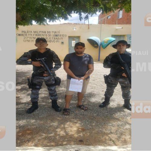 Em Curral Novo, polícia prende homem acusado de homicídio