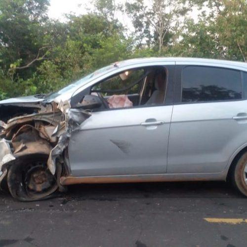 Homem tem braço amputado após colisão entre carro e moto em cidade do Piauí