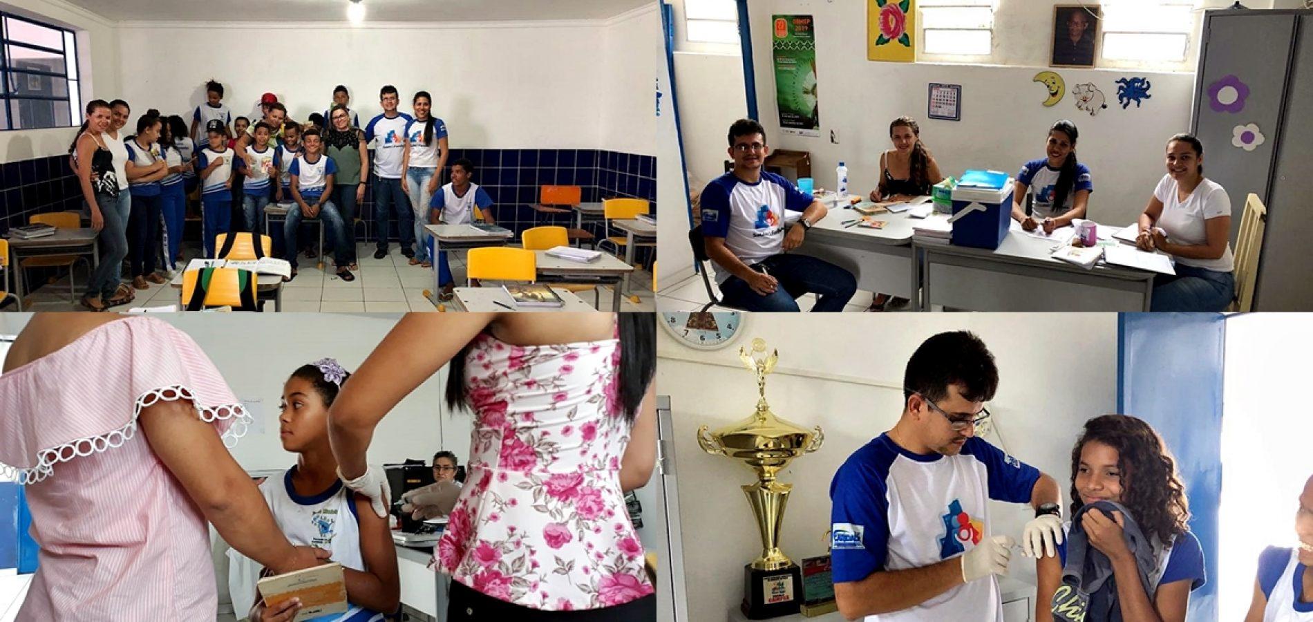 Secretaria de Saúde de Caridade realiza atividades em escolas do município