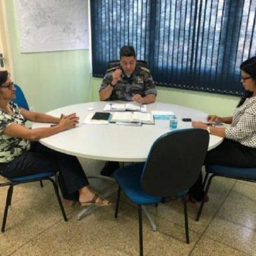 Secretária de Educação e PM se reúnem para tratar da segurança nas escolas municipais em Picos