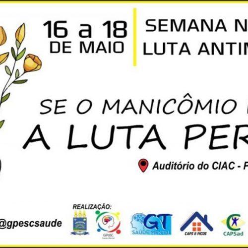 Saúde de Picos promove atividades em alusão à Semana de Comemoração à Luta Antimanicomial