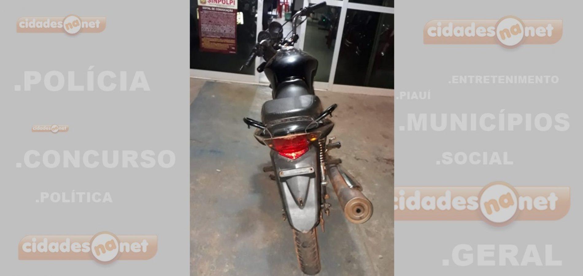 Adolescente é apreendido com veículo roubado em Itainópolis
