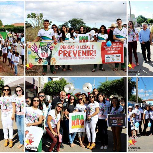 ALAGOINHA│Gestão do prefeito Jorismar Rocha promove 1ª Caminhada e Mobilização Social em Combate às Drogas; fotos