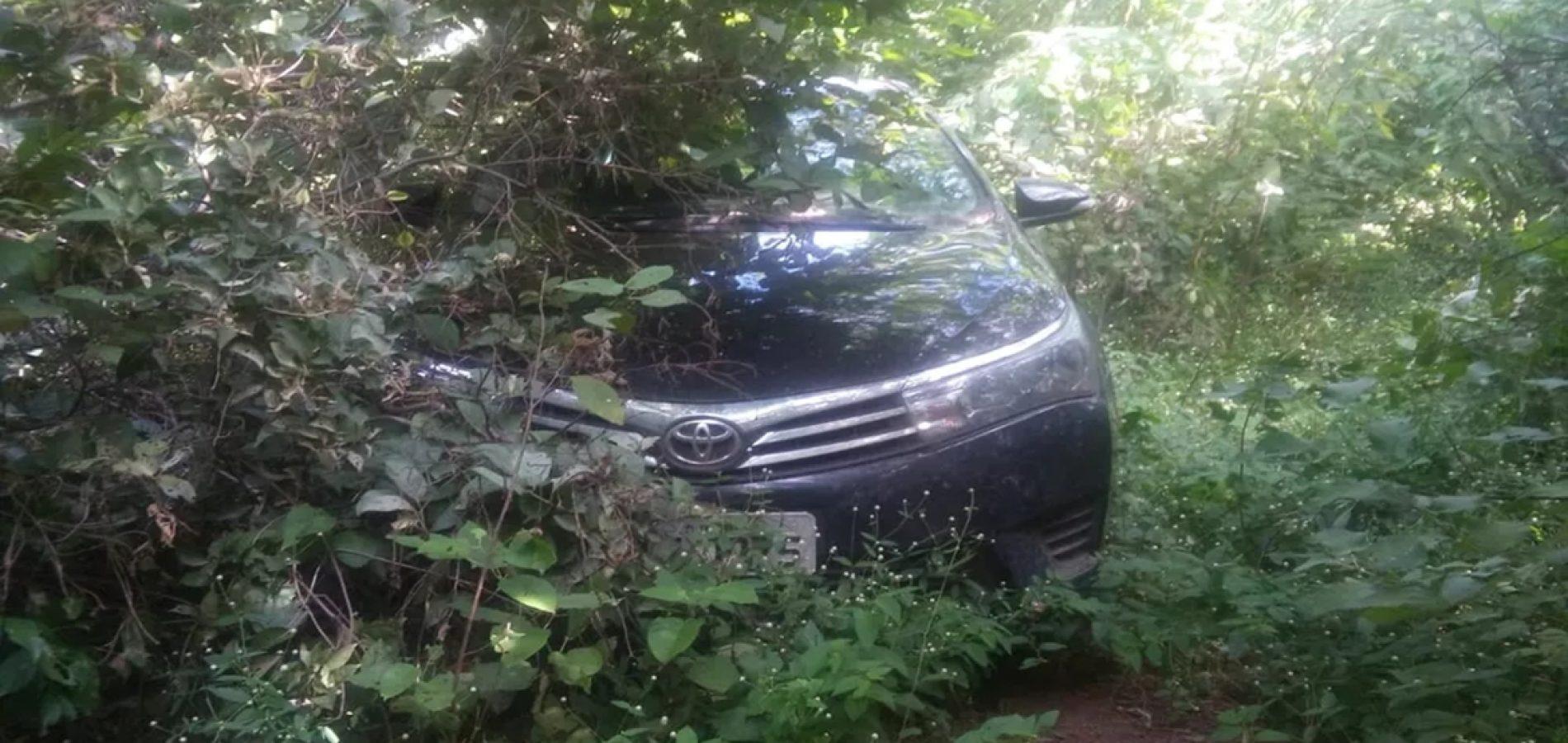 Carro roubado por chefe de bando é encontrado com material para romper cofres