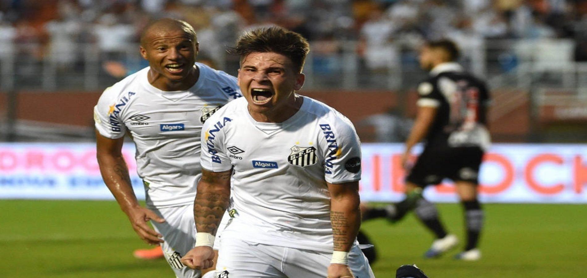 Santos vence o Vasco por 3 a 0 no Pacaembu