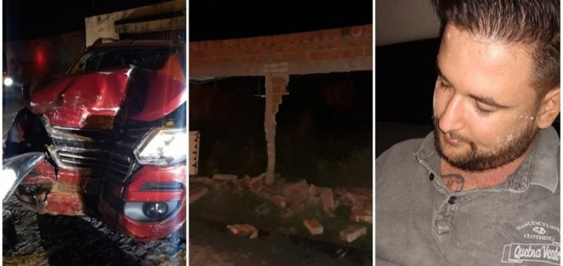 Vídeo mostra momento que carro roubado colide em casa no Piauí