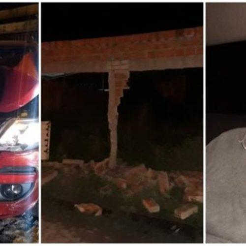 Homem derruba muros após ser perseguido pela polícia no Piauí