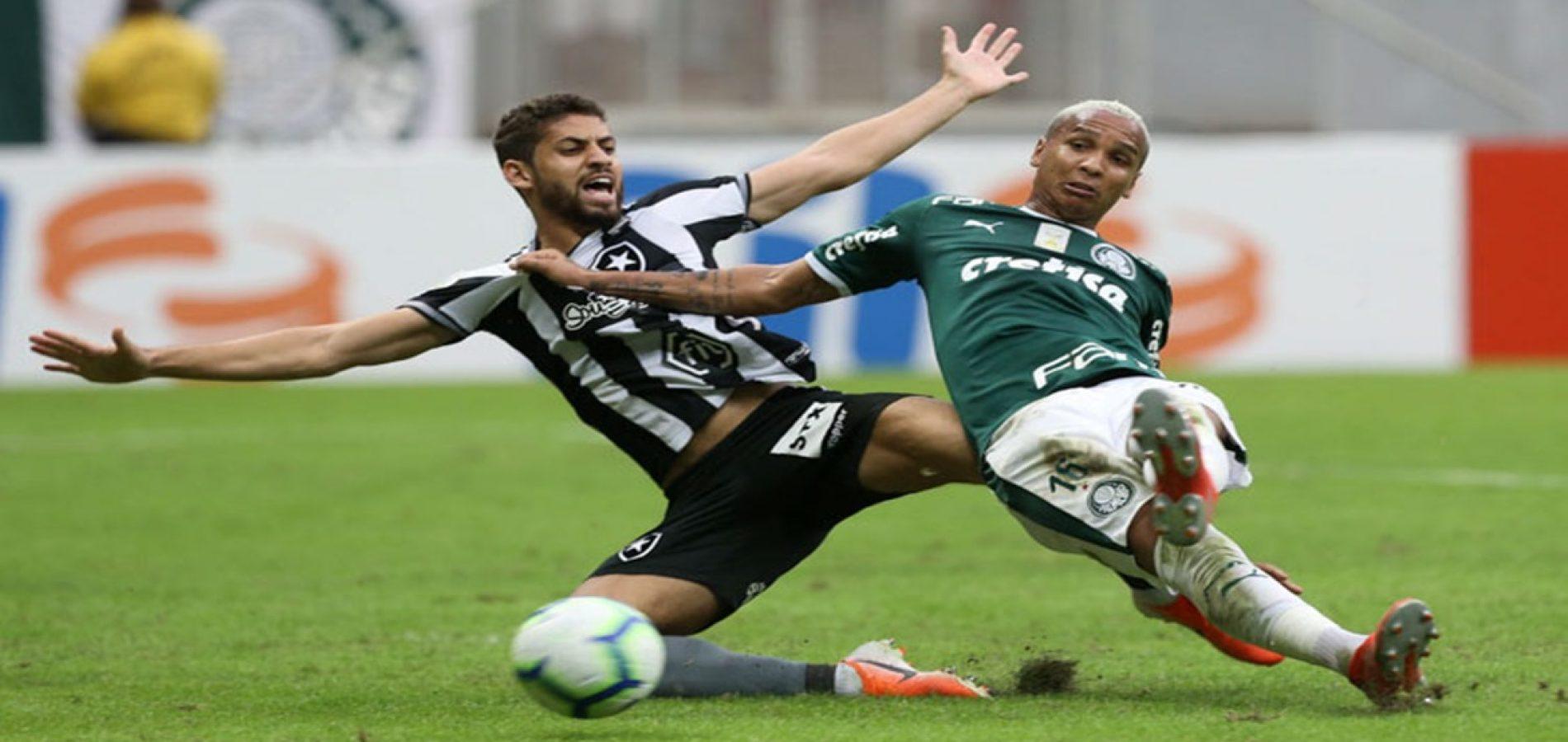 CBF suspende pontos de Botafogo x Palmeiras até julgamento no STJD