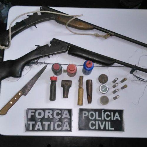 Duas pessoas são presas na zona rural de Jacobina do Piauí por posse ilegal de arma de fogo