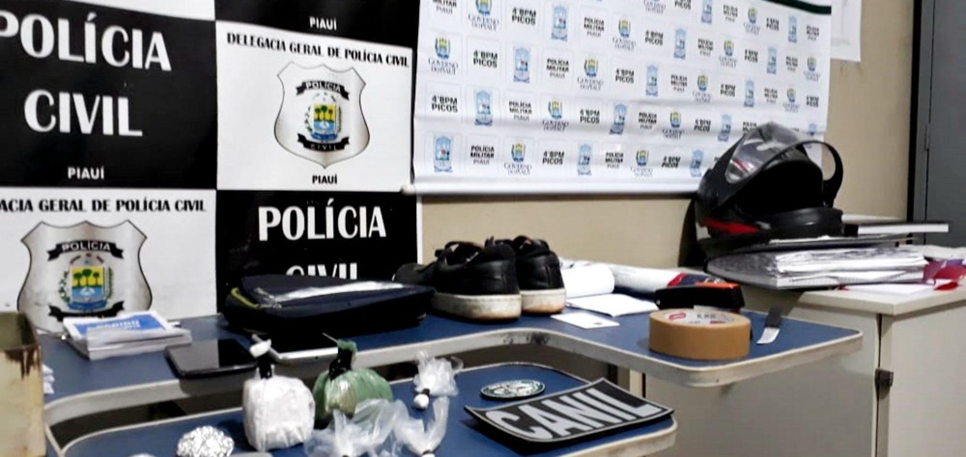 Homem é preso por tráfico de drogas em Picos