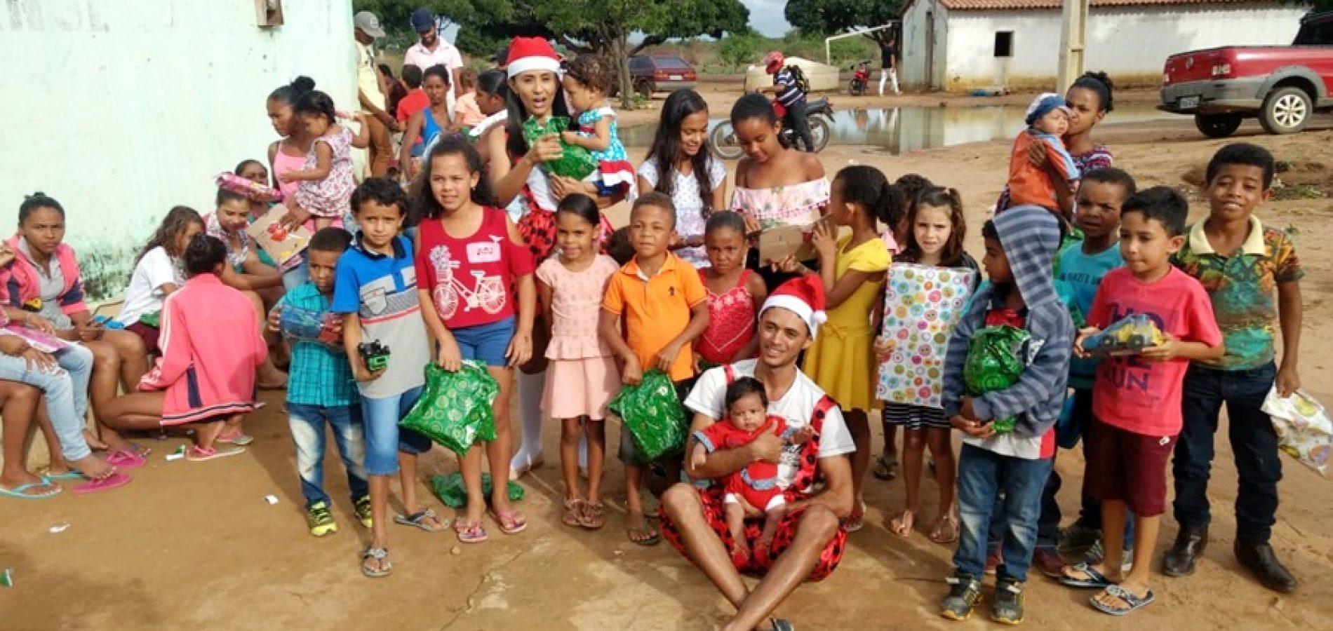 """Projeto social """"Voz, vez e lugar"""" realiza ações em prol de famílias carentes de Caldeirão Grande do Piauí"""