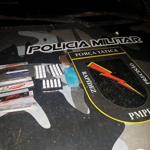 Polícia de Paulistana apreende drogas e veículo em operação na divisa do Piauí com Pernambuco