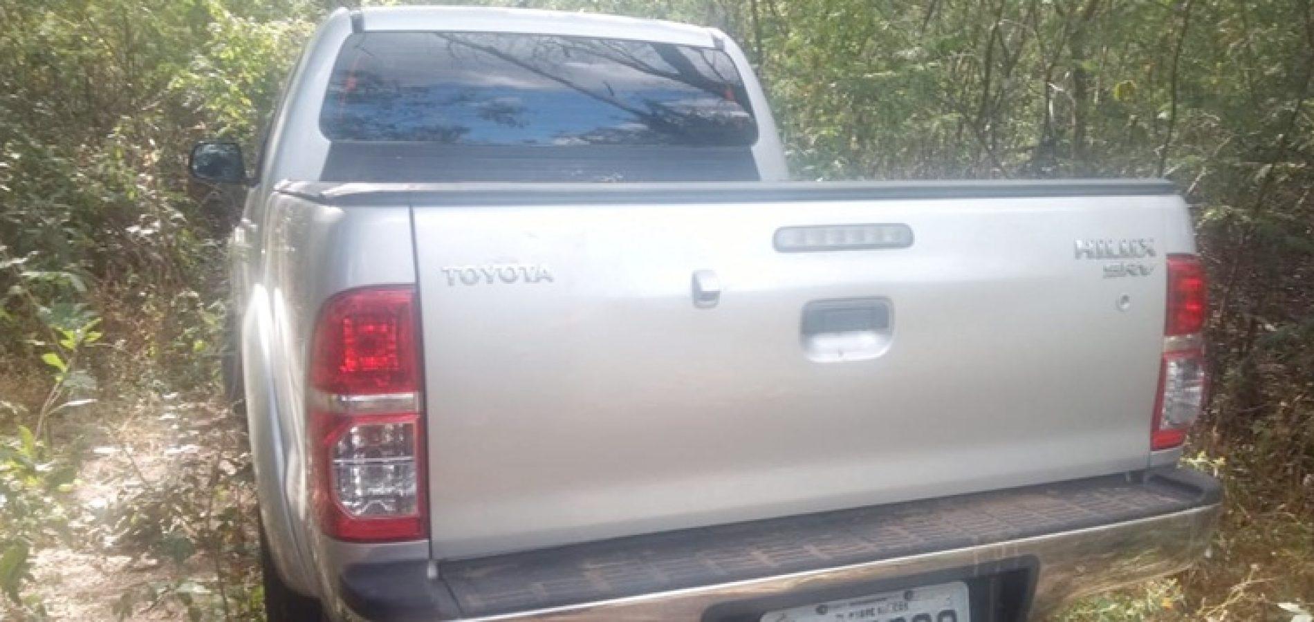 Hilux roubada em Padre Marcos é encontrada na cidade de Francisco Santos