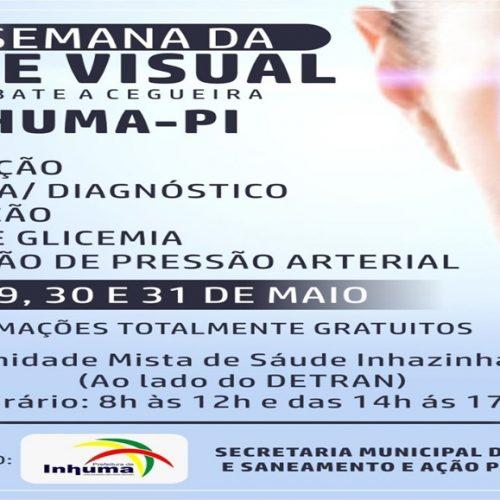 Prefeitura de Inhuma vai realizar Semana da Saúde Visual com consultas e armação de óculos gratuitos. Veja!