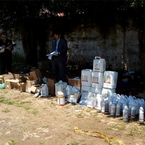 Fiscais apreendem mais de 170 litros de agrotóxico irregular e Adapi faz alerta