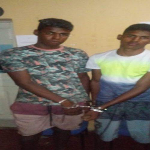 Irmãos são presos após esfaquearem três pessoas em Caridade do Piauí