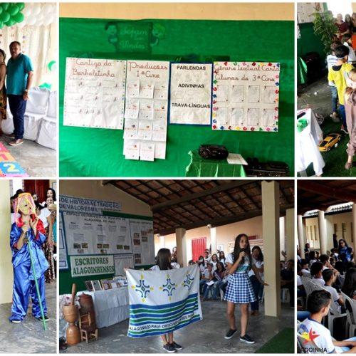 Alunos da Escola Joaquim José da Silva em Alagoinha, realizam culminância de projetos culturais; fotos