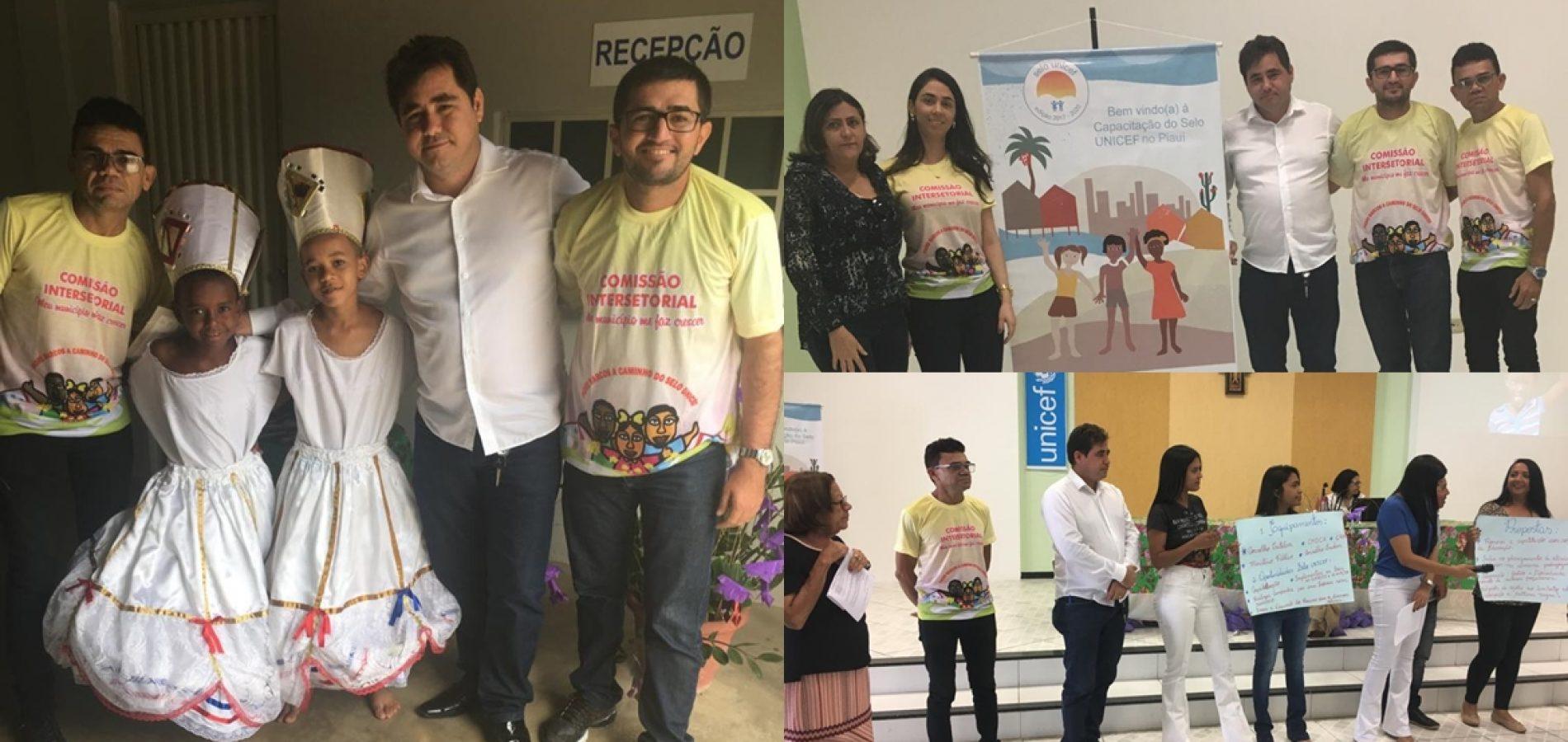 PADRE MARCOS | Prefeito Valdinar e Comissão Intersetorial participam de Capacitação do Selo Unicef em Oeiras