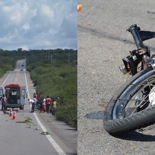 Acidente entre caminhão e moto deixa homem morto na BR 407 em Jaicós