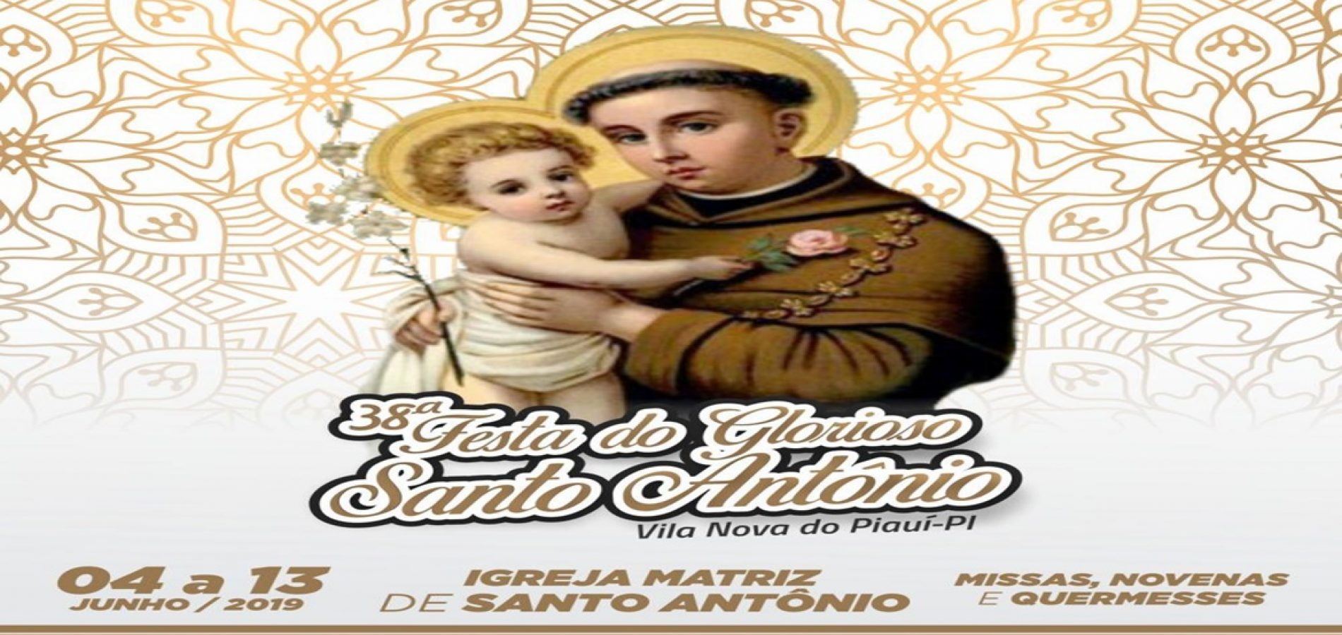 Em Vila Nova, Igreja Católica divulga programação do 38º Festejo de Santo Antônio