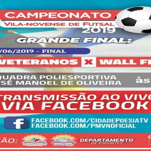 Final do 2º Campeonato Vila-novense de Futsal acontece neste sábado (1º)
