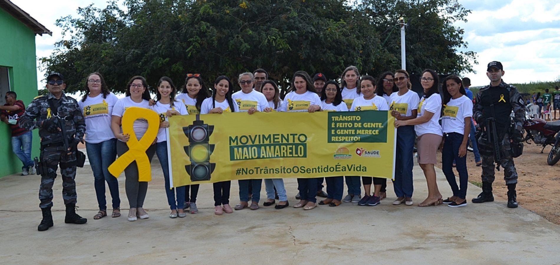 Em Curral Novo, Saúde e PM realizam campanha de conscientização sobre o trânsito