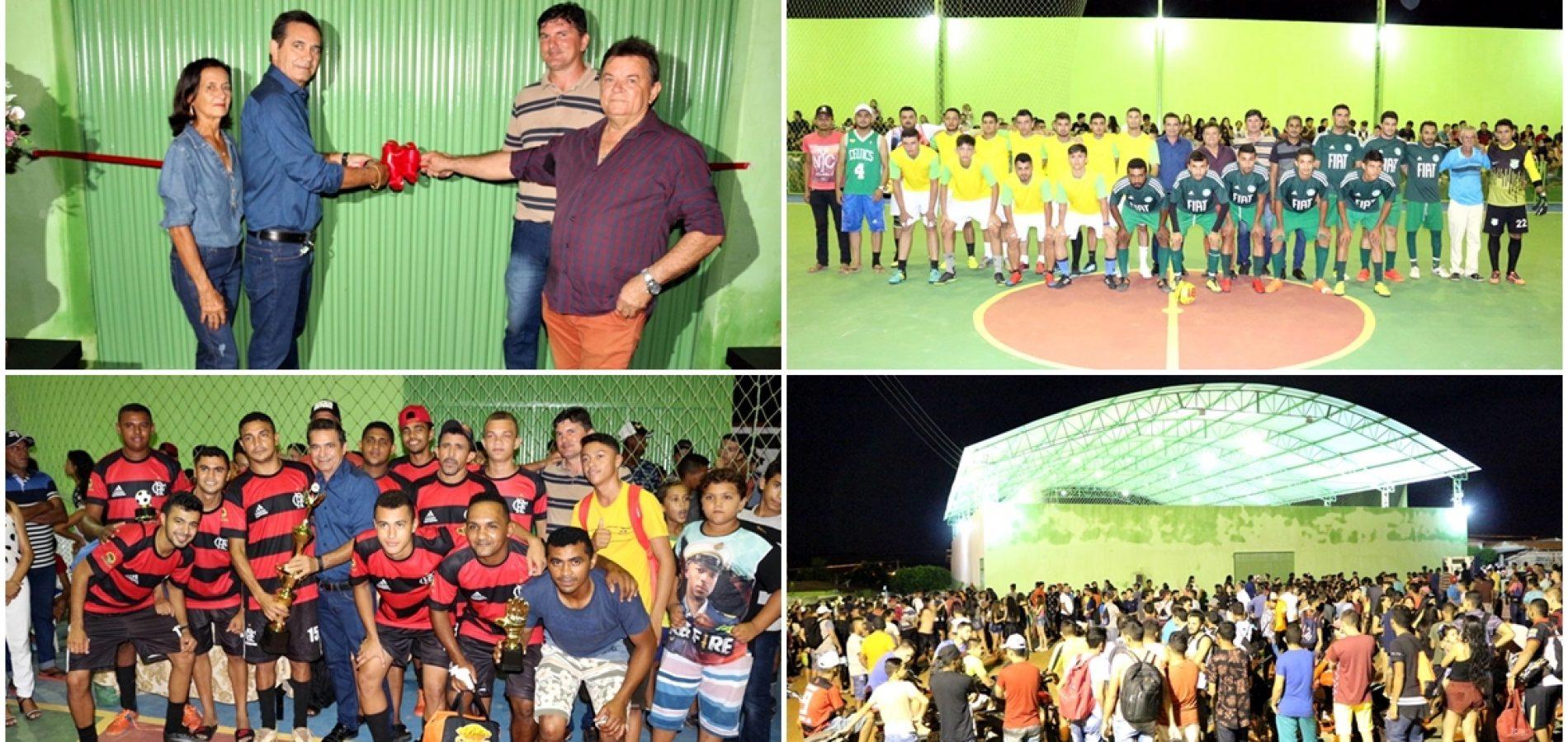 Ampla reforma de ginásio garante espaço para prática esportiva em Geminiano