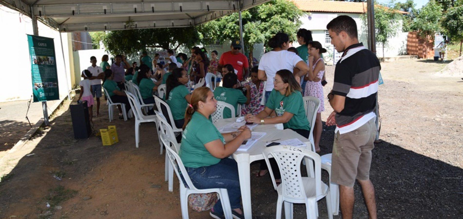 """Saúde de Picos realiza 6ª edição do """"Saúde nos Bairros"""" em Fátima do Piauí"""