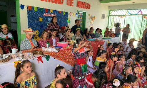 Alegria das festas juninas invadem escolas da rede municipal em Geminiano; veja fotos