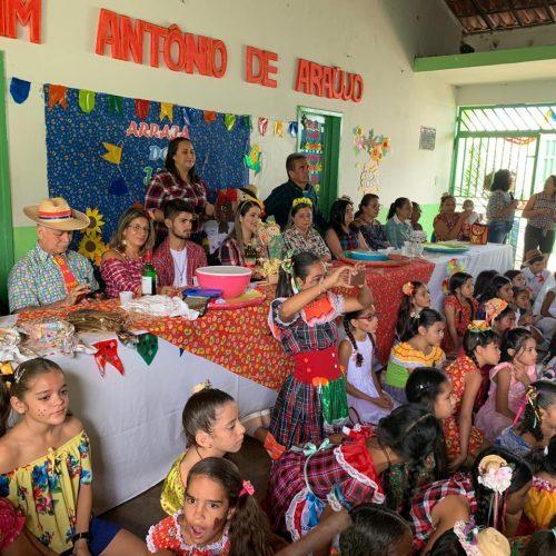 Alegria das festas juninas envadem escolas da rede municipal em Geminiano; veja fotos