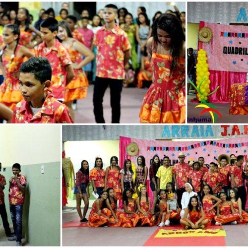 INHUMA | Escola João Amilton Ferreira realiza Arraiá com quadrilha, desfile, danças e concurso; fotos