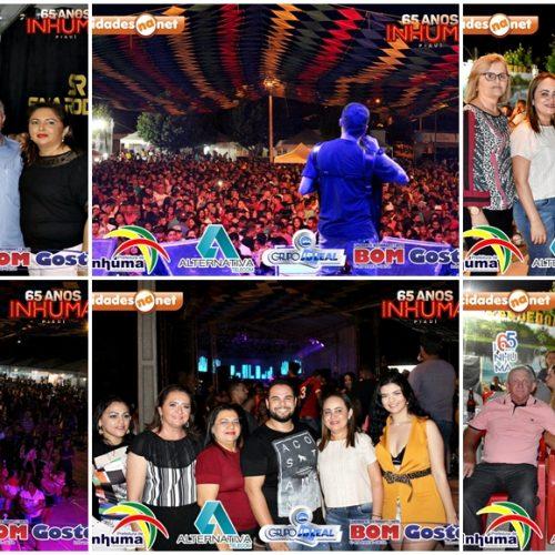 Shows atraem multidão para o 2º e 3º dia de festividades do aniversário de Inhuma; fotos