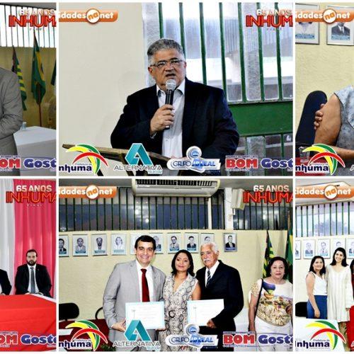 Câmara de Inhuma entrega título de cidadania ao juíz Expedito Costa e ao empresário Manoel Gonçalves