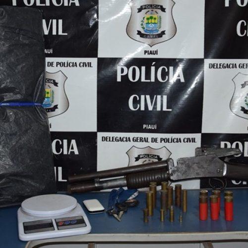 Polícia apreende motos roubadas, munições e arma de fogo em Monsenhor Hipólito