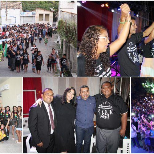 DIA DO EVANGÉLICO | Fotos da programação infantil, Marcha para Jesus, culto e show com Gisele Nascimento em Jaicós