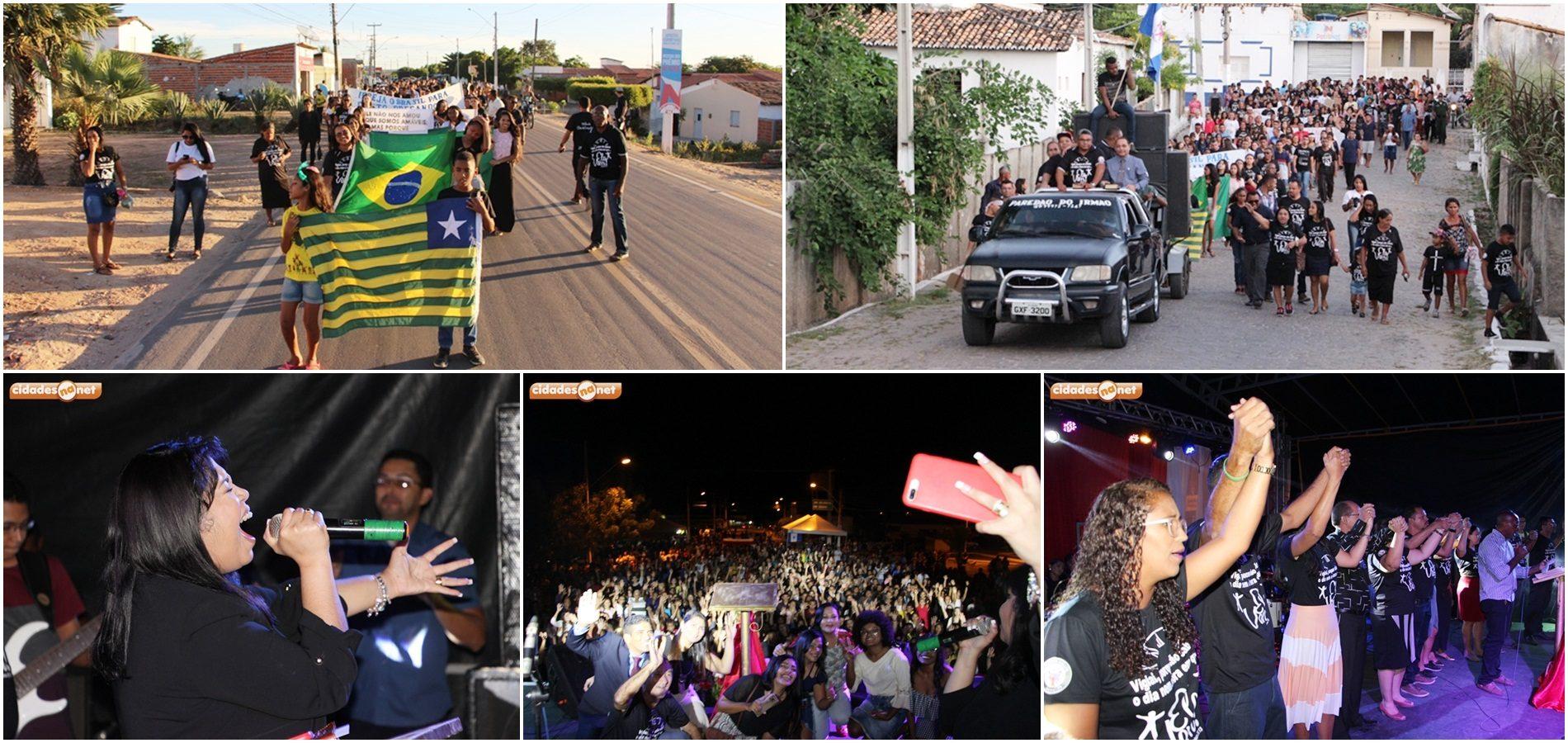 Marcha para Jesus e show com Gisele Nascimento marcam encerramento do 6º Dia do Evangélico em Jaicós