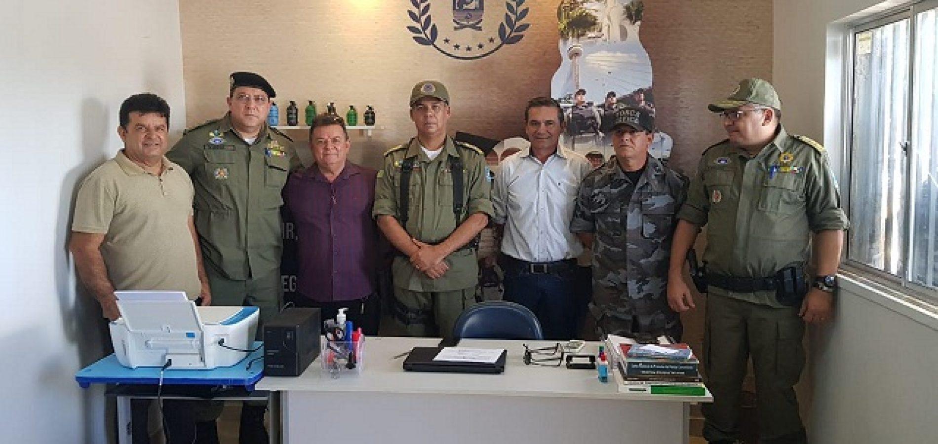 GPM de Geminiano é reinaugurado com a presença do comandante geral da PM Piauí