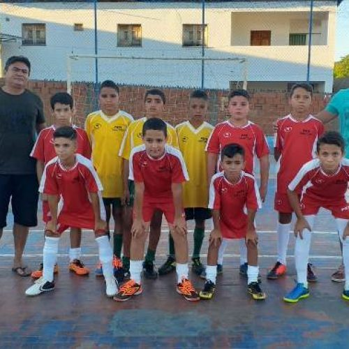 Equipes de futsal mirim de Santana participam de amistoso em Dom Expedito Lopes