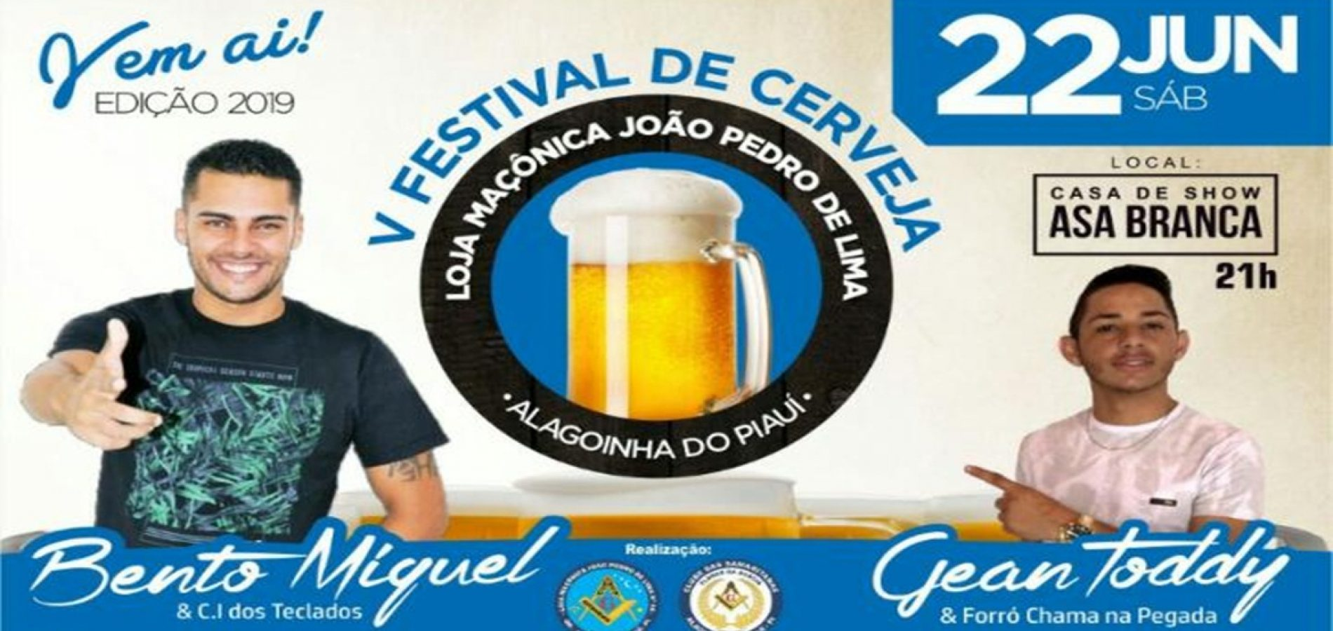 Loja maçônica de Alagoinha do Piauí realizará V Festival de Cerveja. Veja!