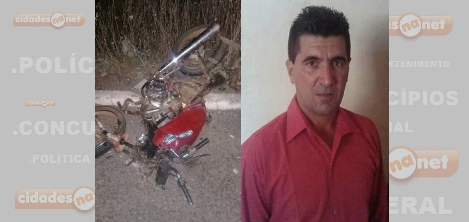 Acidente entre caminhão e motocicleta deixa vítima fatal na BR 407 em Acauã