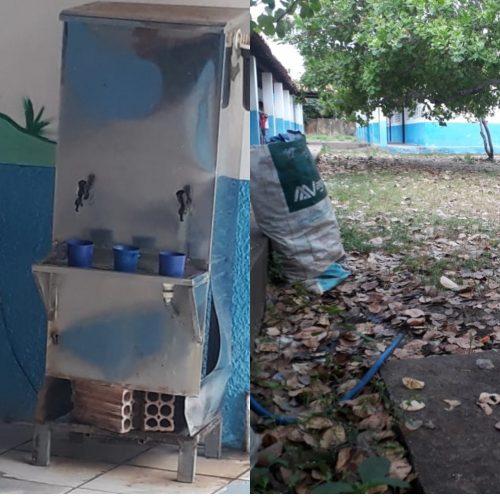 Pais de alunos denunciam falta de estrutura em escola no Piauí