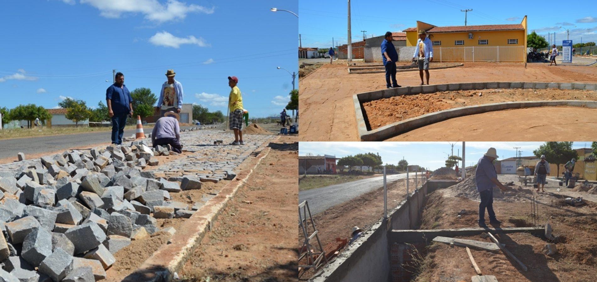 BELÉM   Prefeito Ademar investe em infraestrutura, constrói praça e pavimenta rua no povoado Caboclo