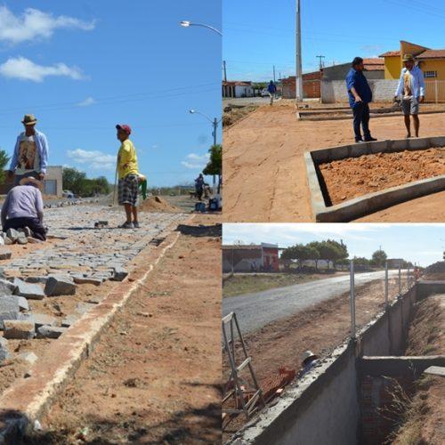 BELÉM | Prefeito Ademar investe em infraestrutura, constrói praça e pavimenta rua no povoado Caboclo