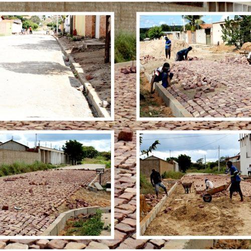 Pavimentação poliédrica em Inhuma chegará aos 27.000 mil metros quadrados até outubro