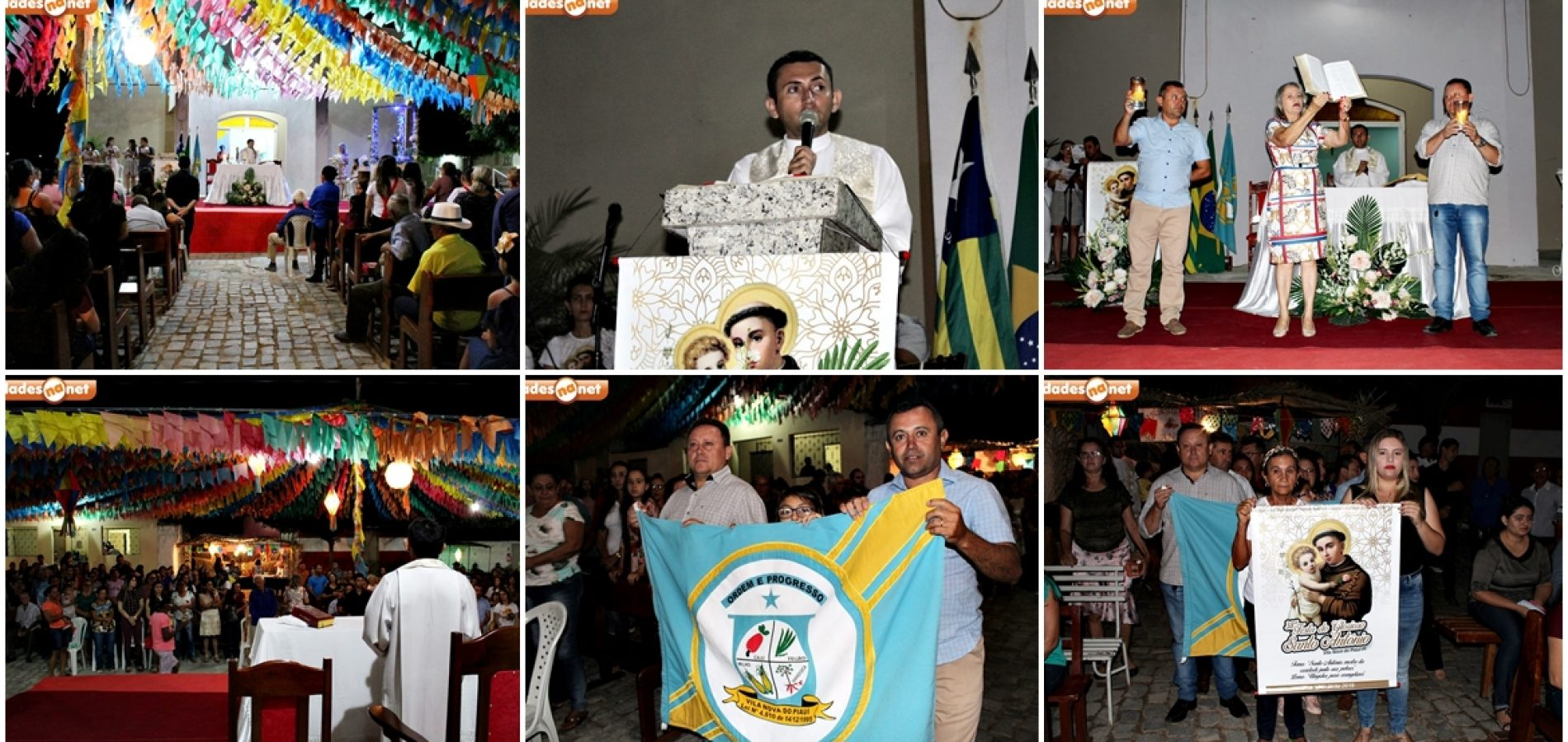 VILA NOVA│Noite dos poderes celebra a 8ª novena e missa no festejo de Santo Antonio; veja fotos