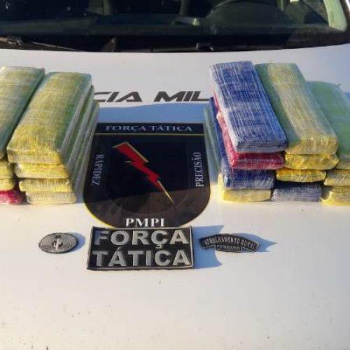Polícia de Paulistana intercepta droga que vinha de Petrolina para Picos; veja vídeo
