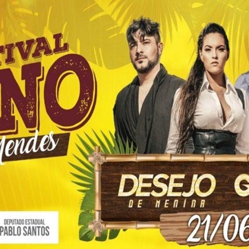 Festival Junino de Vera Mendes terá apresentações culturais e shows comDesejo de Menina e Guilherme Dantas;veja a programação
