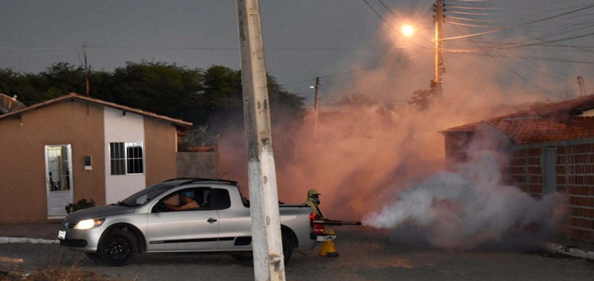 Em Padre Marcos, Saúde pulveriza cidade no combate ao mosquito da dengue